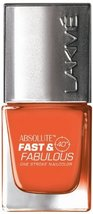 Lakme Fast and Fabulous Nail Color, Flaming Orange, 10ml [Health and Beauty] - $5.04