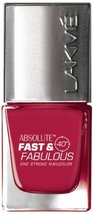 Lakme Fast and Fabulous Nail Color, Fizzy Pink, 10ml [Health and Beauty] - $5.02
