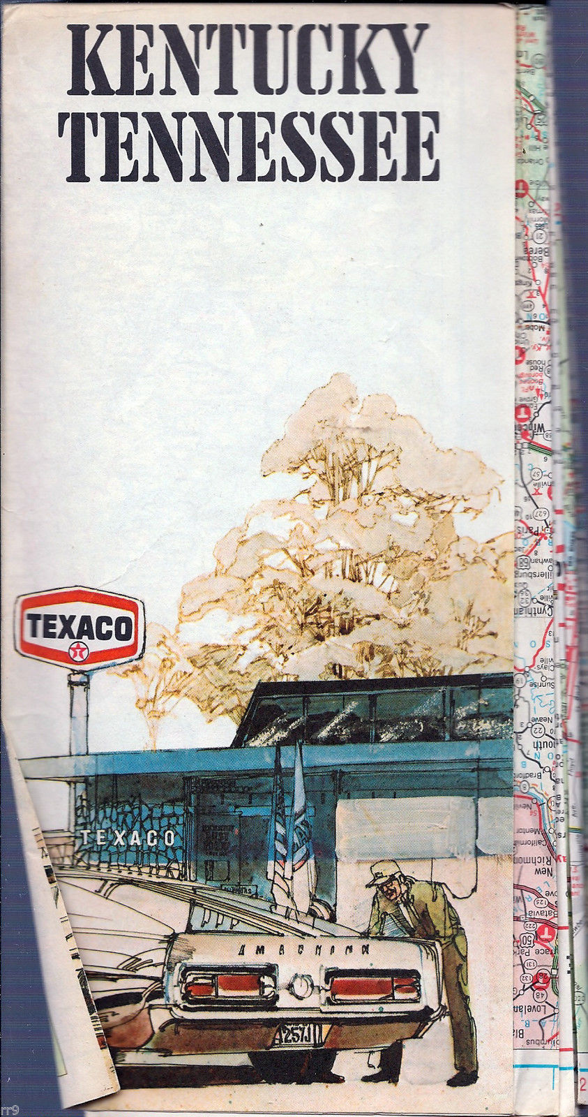 Primary image for Kentucky Tennessee Texaco 1975 Map