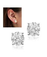 Sterling silver • diamond stones CZ Stud Earrings - $14.95