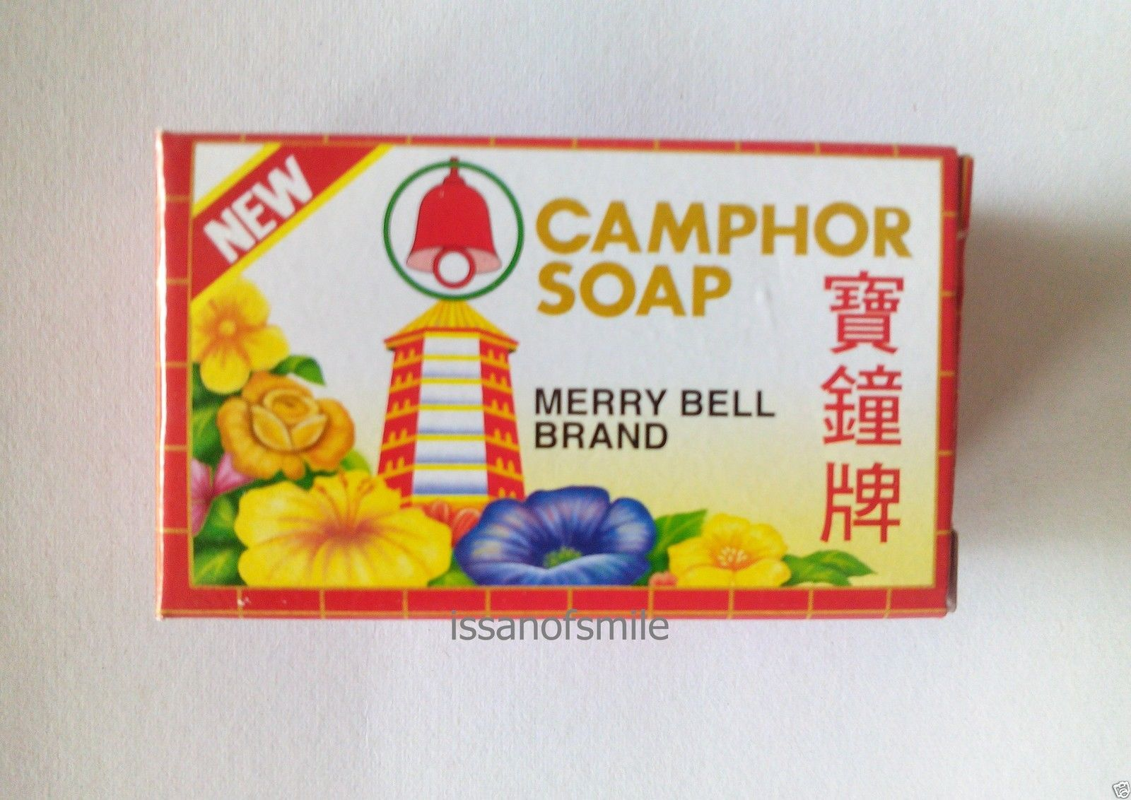 10 x 50g. MERRY BELL CAMPHOR SOAP BAR ANTI-ITCH & ANTISEPTIC