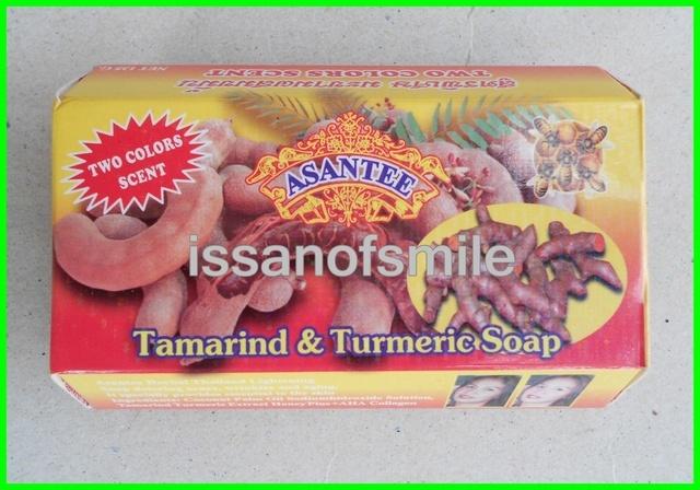 6x135g. Thai Herbal Soap Tamarind & Turmeric Skin Lightening Anti Wrinkles Aging