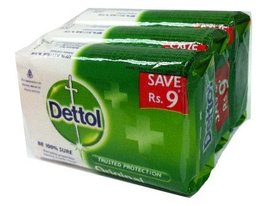 Dettol Original Soap 70gm (2.5oz) Pack of 3 by Herbayu [Misc.] - $19.80