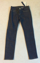 NEW nwt Juicy Couture Jeans Girls Size Sz 10 Skinny Denim Dark Blue Washe image 1
