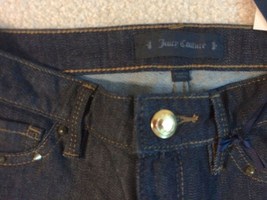 NEW nwt Juicy Couture Jeans Girls Size Sz 10 Skinny Denim Dark Blue Washe image 5