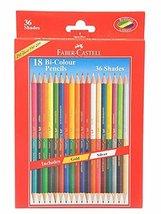 Faber-castell Dual Sided Bi - Colour Pencils in Hexagonal Shape (Set of 18) - $10.87