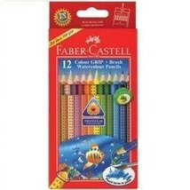 Faber-castell Highly Soluble Triangular Water Colour Pencils for Age 8+ (Set ... - $14.83