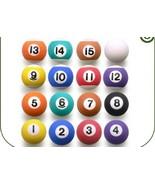 "16 Pool Billiard 1"" Balls Bouncy Favor Bounce Bouncing bounce Party Cake... - $9.29"
