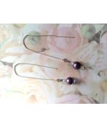 Purple Beaded Swarovski Ear Threader Sterling F... - $19.99