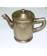 Antique Hotel Individual Tea Pot Grand Silver Co. Brite Nickel Siver  - $9.95