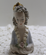 Vintage Porcelain Bust Figurine Young Victorian Queen by CORDEY CHINA CO. - $20.00