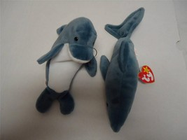 Ty Beanie Babies with Tags Echo and Crunch The Shark 1996 Lot of 2 - $11.71
