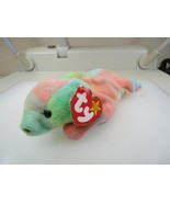 TY Beanie Baby Sammy The Tye Dyed Bear 1998 Retired Good Condition - $2.16