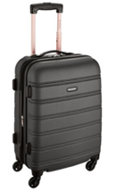 Rockland Melbourne 20-Inch Expandable Abs Carry On Luggage - $63.00