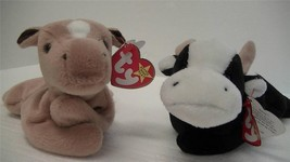 Ty Beanie Babies Original Daisy the Cow 1995 and Derby the Horse 1994 Lo... - $7.79