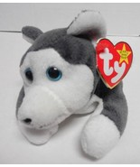 TY Beanie Baby Nanook the Husky Dog PVC pellets Style in Swing Tag 1996 - $7.13