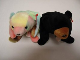 Ty Beanie Baby Bears with Tags Blackie 1994 and Sammy 1998 Lot of 2 - $8.91