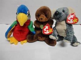 TY Beanie Babies Jabber Seaweed and Eucalyptus with Tags 1996-1999 Lot of 3 - $10.00