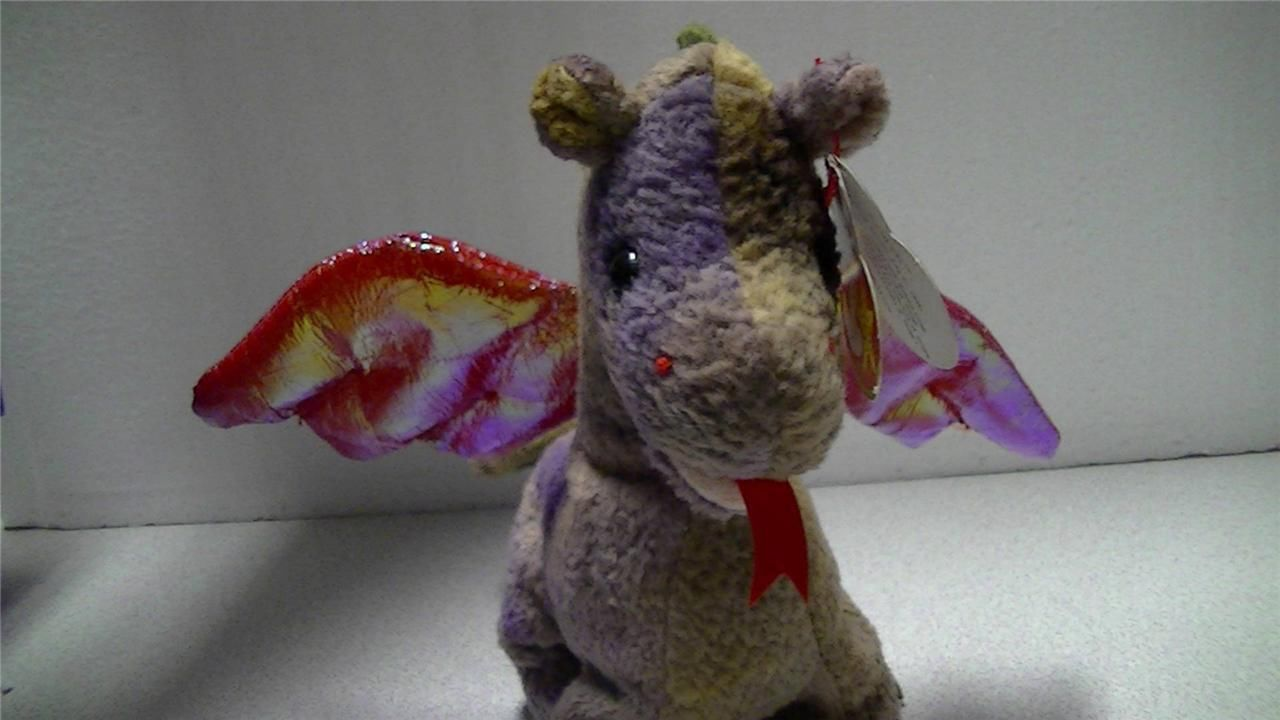 Ty Beanie Baby Original 1998 Scorch The Flying Dragon with Tags