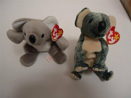 Ty Beanie Baby Koalas with Tags Mel 1996 and Eucalyptus 1999 Lot of 2 - $15.00