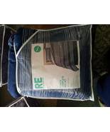 Room Essentials Blue and Gray Stripes Queen Size 8 Piece Bedding Set - $65.00