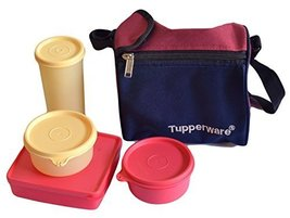 TP-860-T187 Tupperware Best Lunch (Including Bag) With Two Bowls, One Tu... - $28.69