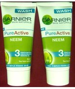 2 X Garnier Pure Active Neem Tea Tree Ext Face Wash Pimple Prone Skin 50... - $2.82