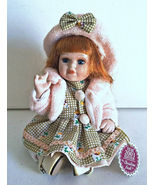 """Christina Verdi Collection Porcelain Doll with Bent Knees 6 3/4"""" Tall Si... - $6.00"""