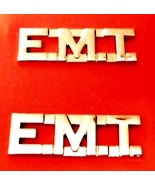 EMT Collar Pin Set Nickel Cut Out Letters Emerg... - $8.97