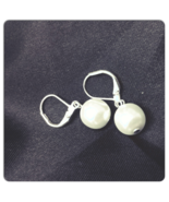 Snowball Pearl Drop Earrings - $15.00