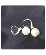 Snowball Pearl Drop Earrings - $15.00