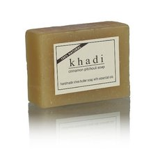 KHADI - Handmade Shea Butter Soap Cinnamon Pitchouli - 100g [Health and ... - $2.96