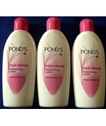 3 X Ponds Triple Vitamin Moisturising Body Lotion Soft Smooth Radiant Sk... - $11.89