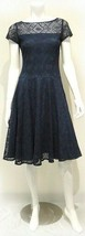 Sangria Women's Lace Fit-and-Flare Dress Navy 2 #NH94O-M122 - $34.99