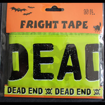 Pirate Skull Crossbones-DEAD END-Fright Caution Tape-Halloween Decoratio... - $3.91