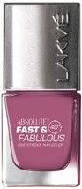 Lakme Fast and Fabulous Nail Color, Wicked Pink, 10ml [Health and Beauty] - $5.02