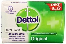 Dettol Original Soap India Large, 120 Grams, 12 Count [Health and Beauty] - $29.70