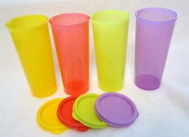 Tupperware 12oz Stacking Tumbler Set of 4 in Summer 2013 Colors - $38.67