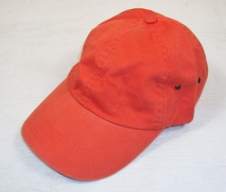 Orange Cotton Washed Twill Cap ~ Unisex, Adjustable To Fit Most Sizes ~ ... - $8.77