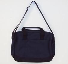 Navy Blue Basic Business Portfolio Briefcase ~ 100% Polyester, #HS021 - $12.69