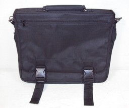 Black Polyester Messenger Bag Briefcase, Expandable Bottom Gusset ~ #HS016 - $14.65
