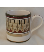 Sberna Deruta Coffee Mug with Gold, Green, and Wine Desing Made in Italy  - $17.99