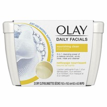 Olay Daily Facial Nourishing Cleansing Cloths Tub  Makeup Remove 33 Count - $6.91