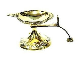 Pure Brass Pooja Lamp (1 Face) Capacity 30ml. [Kitchen] - $11.87