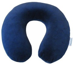 Travel Neck Pillow Memory Foam Neck Blue Rest Pillow Chiropractic Therapy NEW - $48.08 CAD