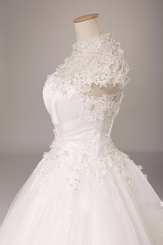 Lace wedding dress with short sleeves see through corset for See through corset wedding dresses