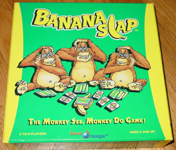 Primary image for BANANA SLAP MONKEY SEE MONKEY DO GAME 2004 BLUE ORANGE COMPLETE EXCELLENT