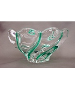 Mikasa Crystal Swirl Peppermint Green Nut Candy  - $11.99