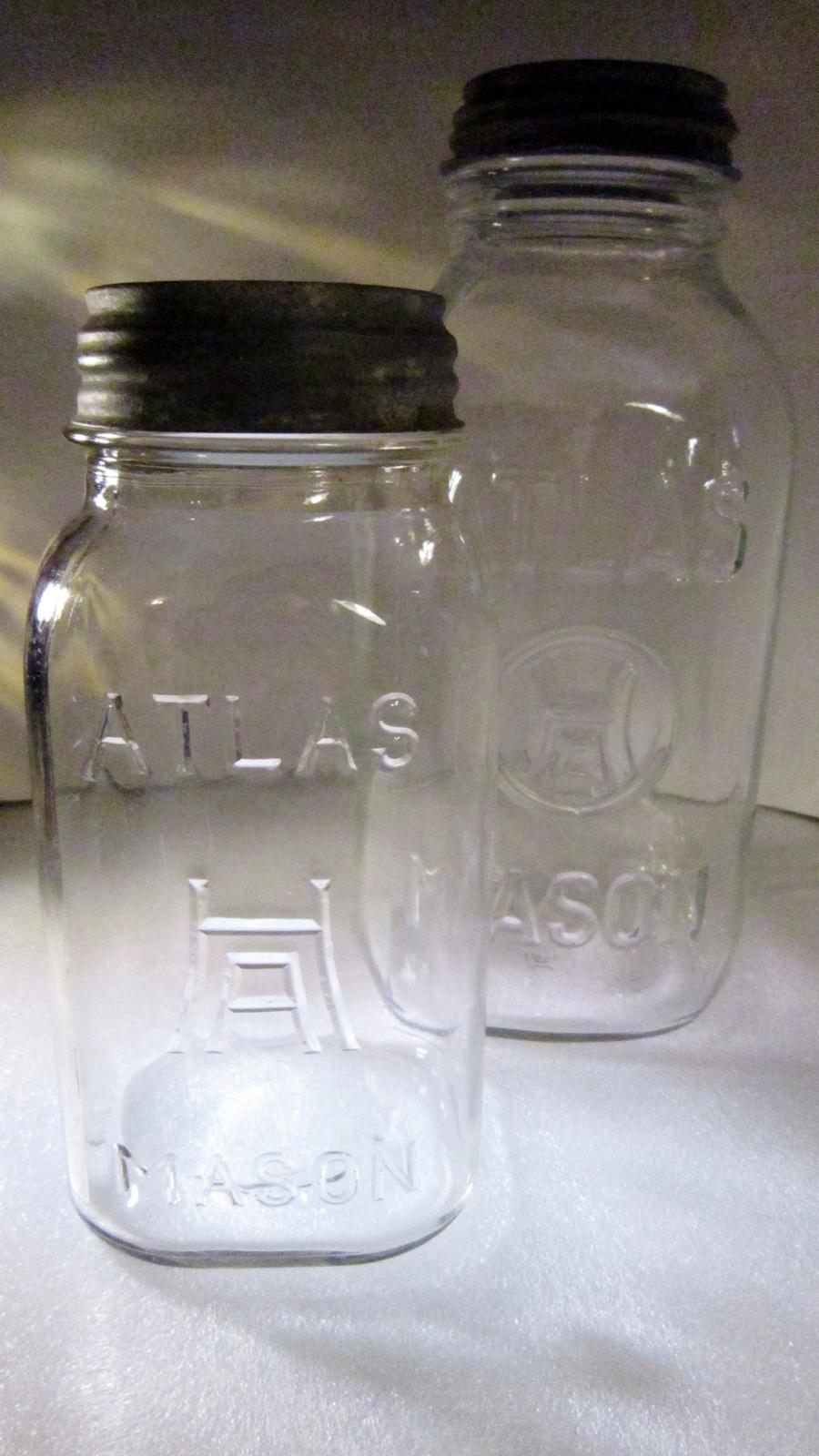 Hazel atlas canning jars h over a quart and half gallon 01