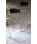 Canning Jars Hazel Atlas H over A Square Half-Gallon and Quart Mason - $29.99